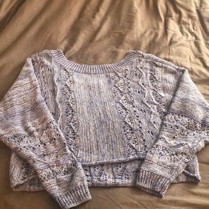 Purple Crop Sweater - Melrose and Market - NWOT